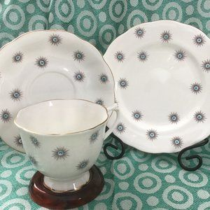 Vintage 1940s Royal Albert English Bone China Trio